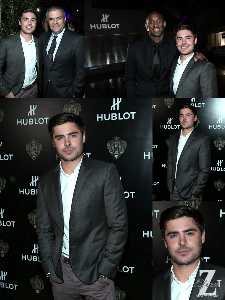 © ZEfron™  20.03.2013  -  Zac Efron à la soirée Hublot en l'honneur du basketteur des Lakers, Kobe Bryant à Los Angeles.  @V: Enfin Zac de sortie à Los Angeles, on revit enfin toujours aussi classe en Costume. @J: Have a good day now  ;)