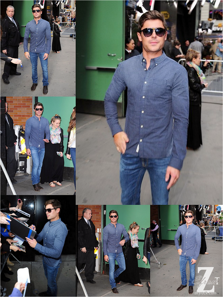 "© ZEfron™    18.04.2013  -  (Part.1 - Photos) Zac Efron de passage dans l'émission ""Good Mornig America"" & ""Live with Kelly & Michael"" à New York."