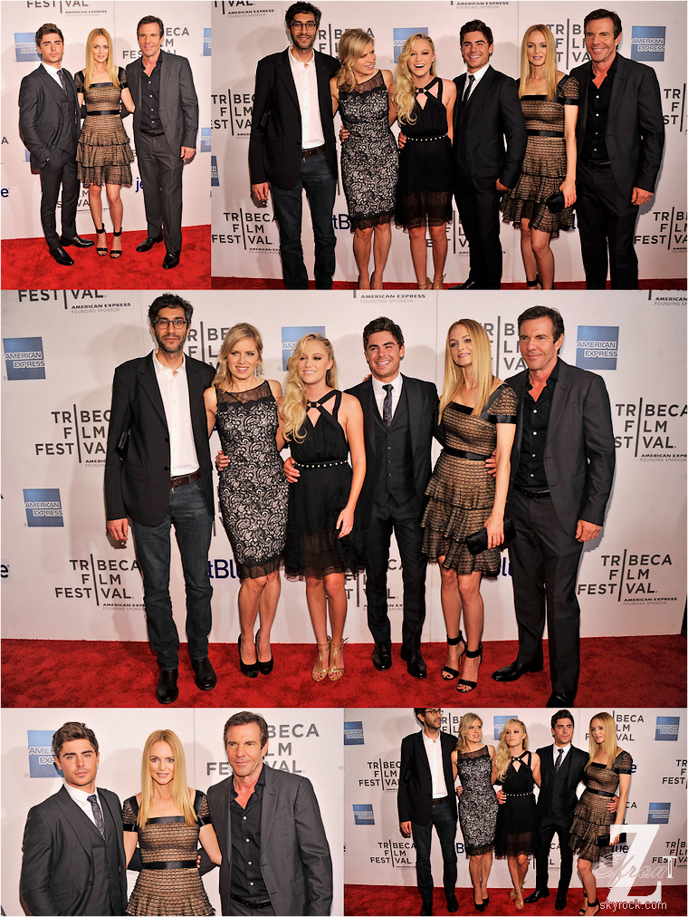 © ZEfron™  (Ajout de photos & de vidéos)  19.04.2013  -  Zac Efron et le cast du film d'At Any Price au festival du film de Tribecca à New York. @V: Toujours aussi classe et le costume 3 pieces lui va parfaitement.