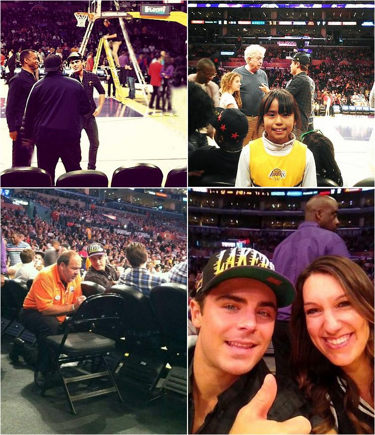 © ZEfron™  (Ajout vidéos)  28.04.2013  -  Zac Efron arrivant & assistant au match de basket des Lakers à Los Angeles.  @J: Ça faisait longtemps qu'on avait pas eu de photos au Lakers :)  Toujours la même casquette ^^