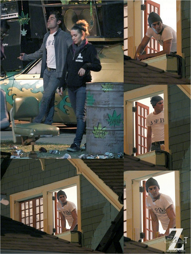© ZEfron™  22-23.05.2013  -  Zac Efron en soirée sur le tournage de son film From Here to Fraternity (Townies) à Los Angeles.  @V: Enfin un peu de news de Zac sa fait plaisir, toujours aussi beau. @J: De belle news de Zac, ça commencer à manquer, pas vrai? ^^ .