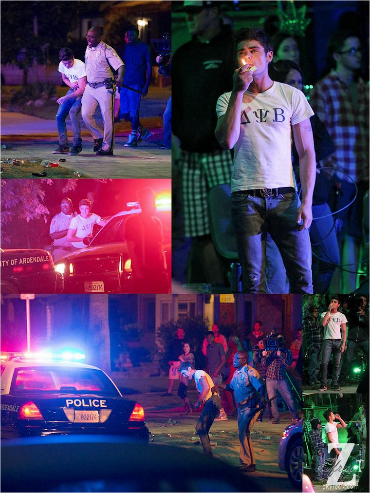 © ZEfron™  23-24.05.2013  -  Zac Efron et Dave Franco sur le tournage du film From Here to Fraternity (Townies) à Los Angeles.  @V: Encore des news de Zac j'aime :-) @J: Je précise desuite au cas où que toutes les scènes sont pour le film ^^ .