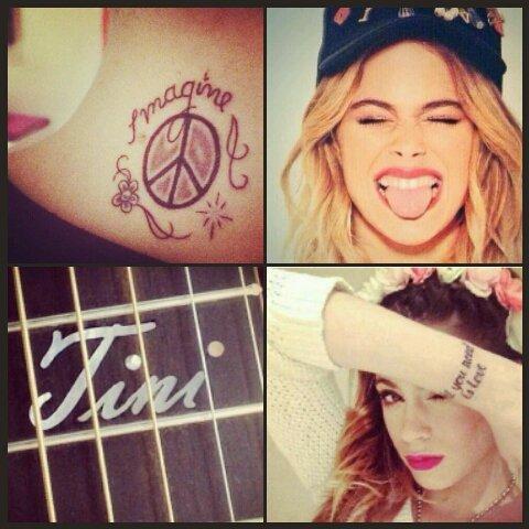 """nous savons tous maintenant que tini a un tatouage """"all you need is love"""" sur son poigné . Et bien elle s'est fait 2 autres tatouages un dans le cou il y a ecrit """"imagine"""" et elle s'est fait un coeur sur un de ses doigt. voila la nouvelle info! A bientôt pour un nouvel article (oubliez pas de kiffer et de commenter )"""