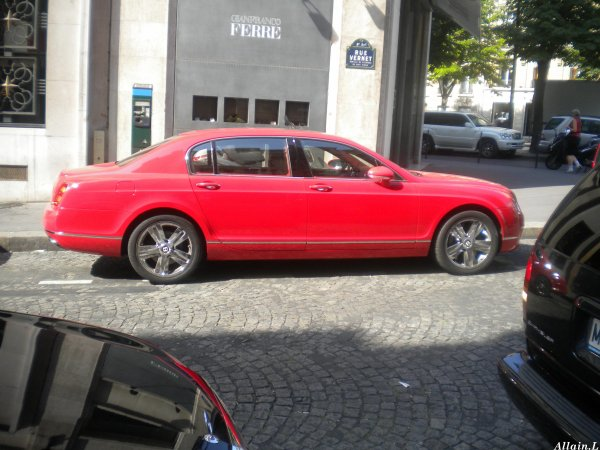 Bentley Continental Flying Spur Rue Vernet (75)