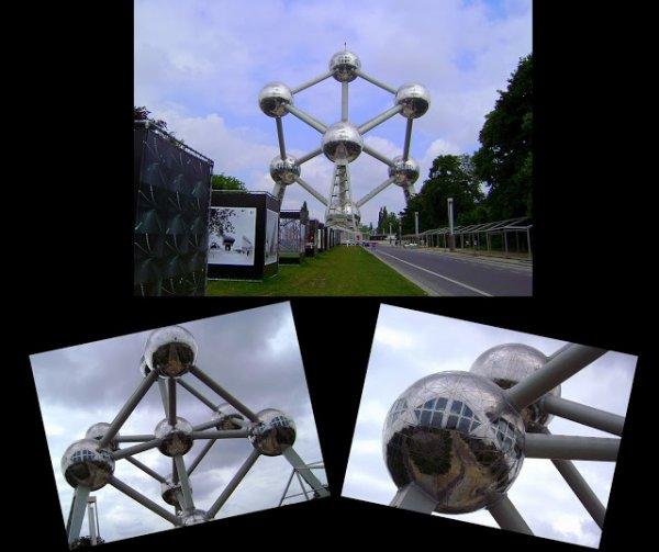 l'Atomium qui mais en valeur s'est boules .