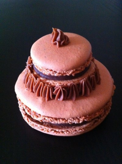 Religieuse Macaron Chocolat