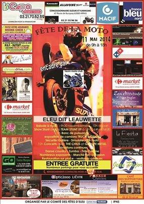 Fête de la moto à Eleu dit Leauwette