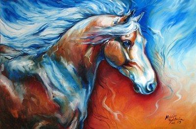 Quelques peintures, mes amis les chevaux....