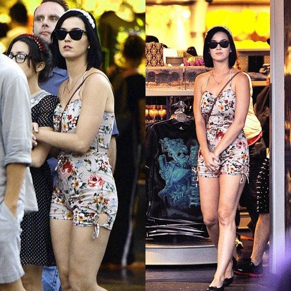 • 25/08/12 - Katy Perry a était aperçue à DisneyLand en Californie.
