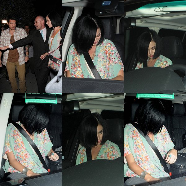 "• 05/09/12 - Katy Perry a était aperçue quittant le restaurant ""Little Door"" avec John Mayer à Los Angeles."