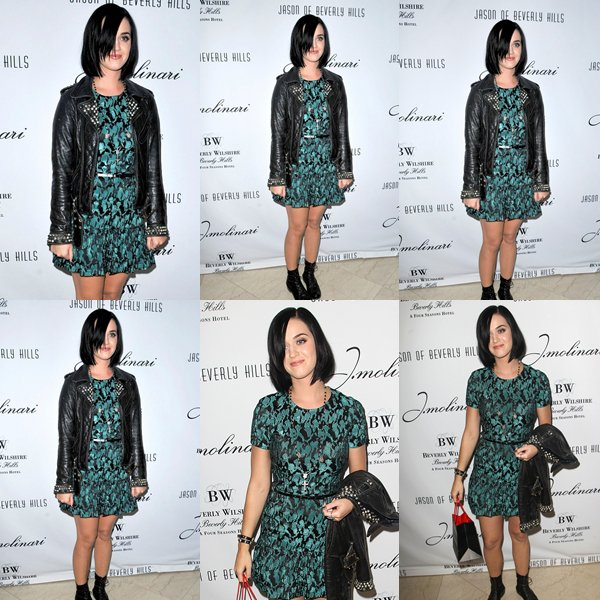 "• 05/09/12 - Katy Perry était présente au "" Jason of Beverly Hills Viewing Party "" à Los Angeles."