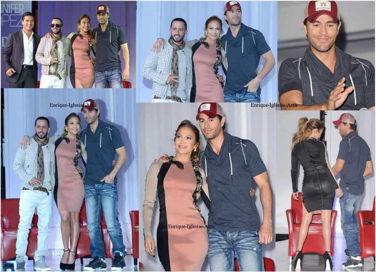 Conférence de presse : ENRIQUE Jennifer Lopez et Wisin • 30 avril 2012