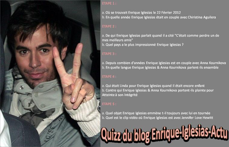 Connais-tu Enrique Iglesias sur le bout des doigts ?