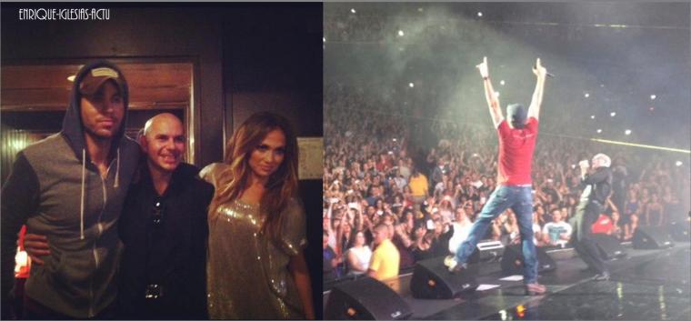 Enrique au concert de Pitbull à L.A (le 9 août 2012)