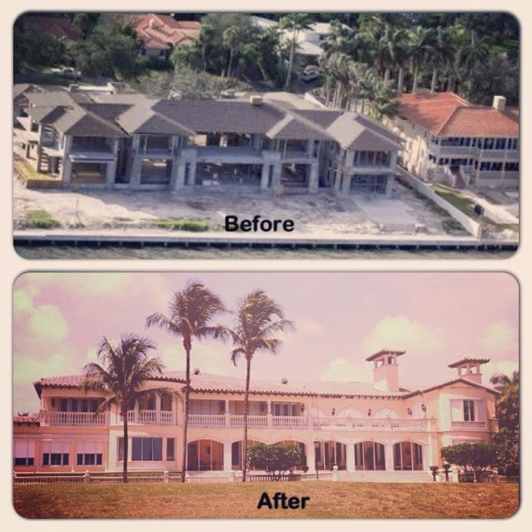 Maison d'Enrique Iglesias & d'Anna Kournikova Before/After