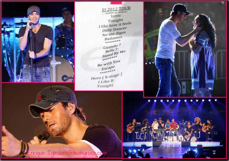 Enrique Jlo tour à Atlanta (29 août 2012)