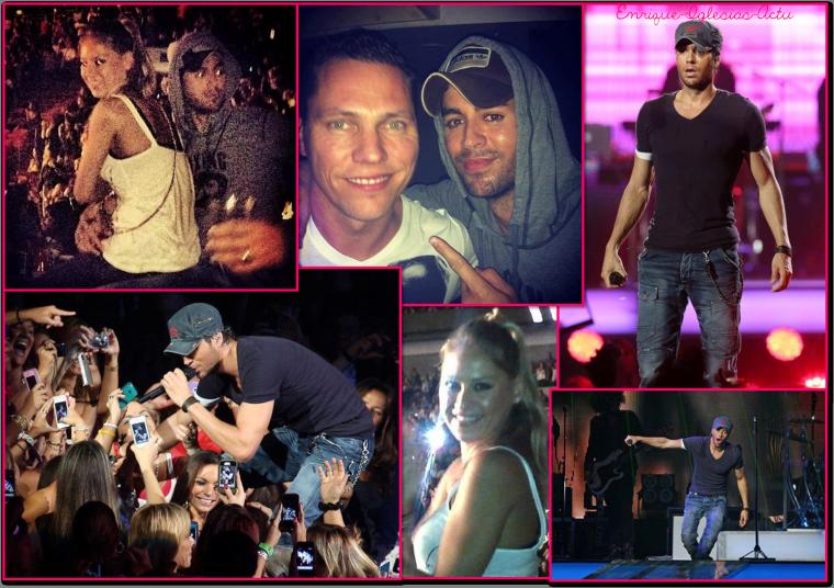 Enrique Jlo tour à Miami (31 Août 2012)