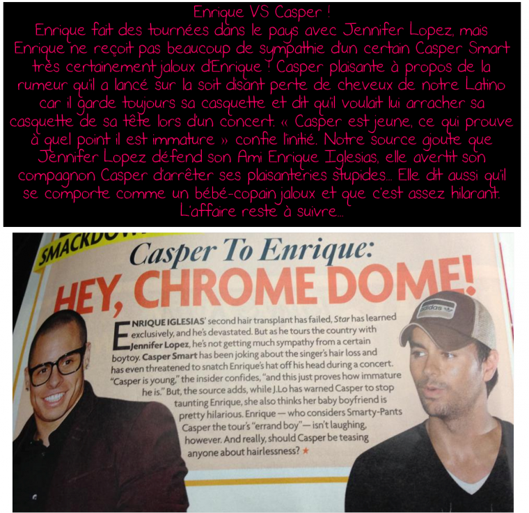 Enrique Iglesias VS Casper Smart
