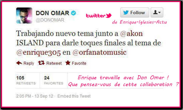 Enrique travaille avec Don Omar !