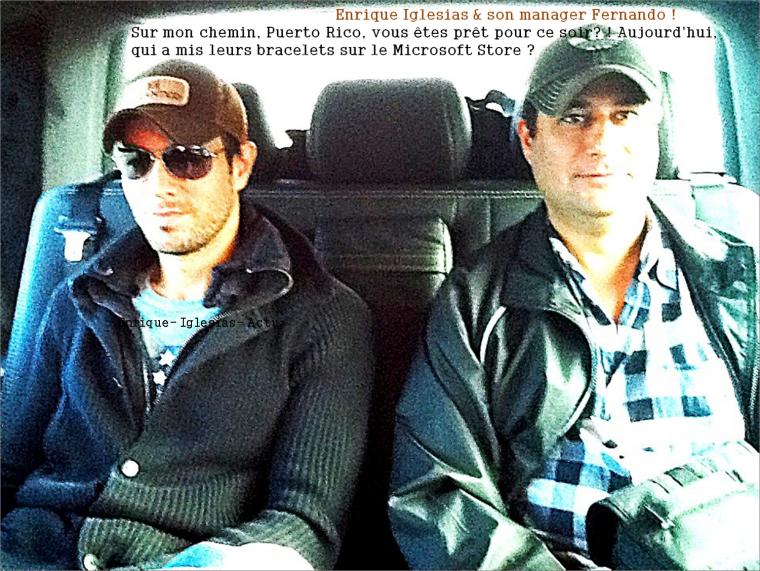 Enrique Iglesias & son manager Fernando !