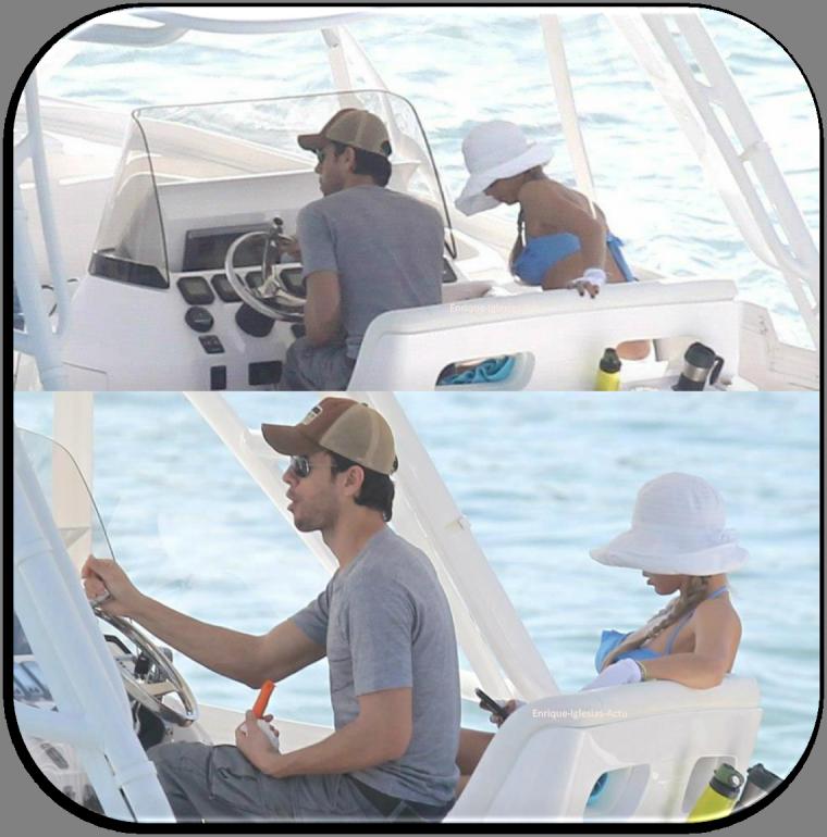 Enrique & Anna en bateau à Miami, Floride le 04/11/2012