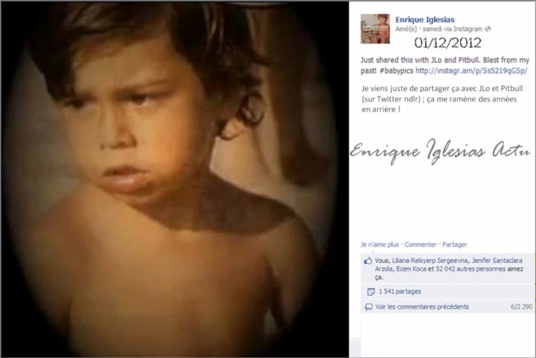 Enrique présent sur Instagram