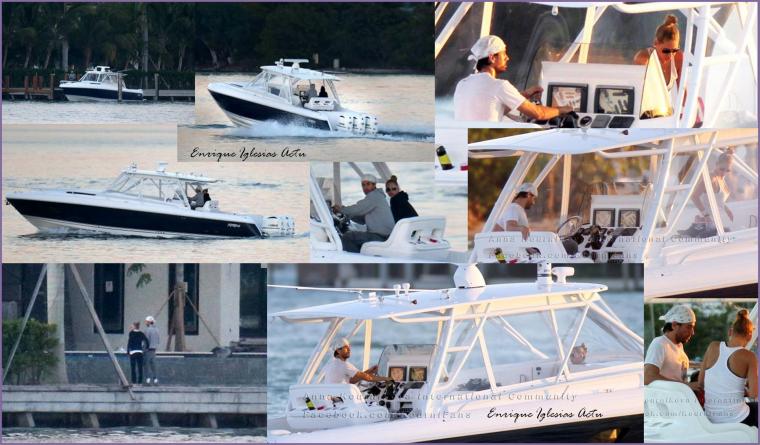 Enrique & Anna en bateau le 26/11/2012
