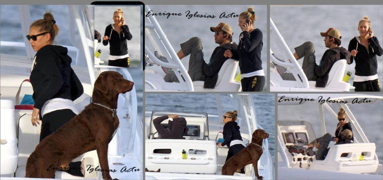 Enrique & Anna en bateau 1 Décembre 2012
