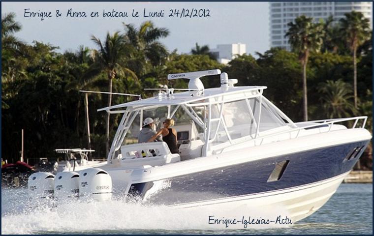 Enrique & Anna en bateau le 24/12/2012