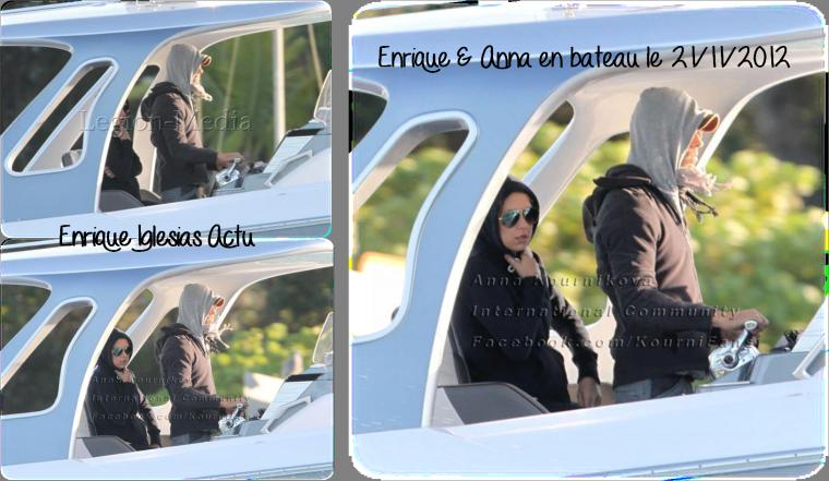 Enrique & Anna en bateau le 21/11/2012