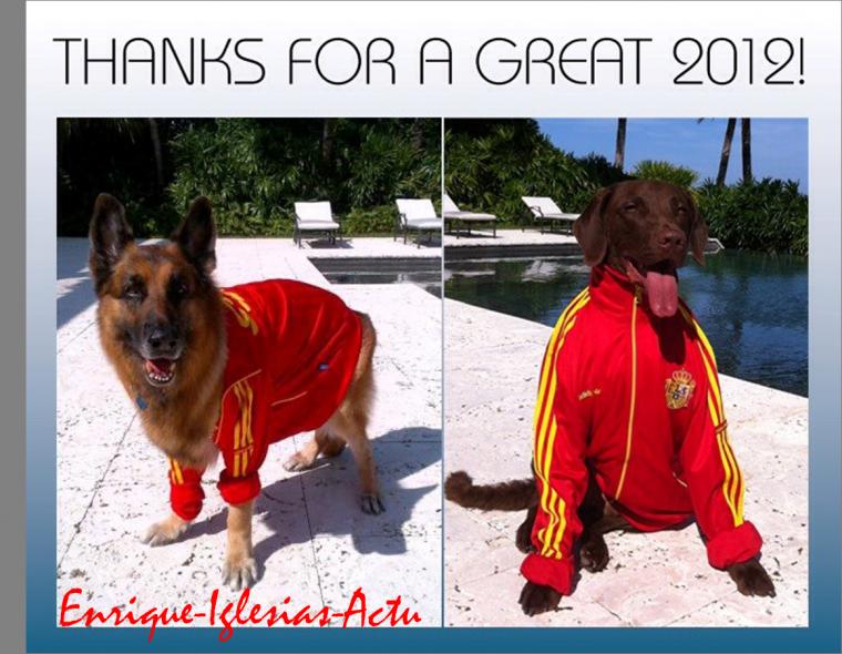 Bonne Année! Merci pour 2012 ! - Enrique Iglesias
