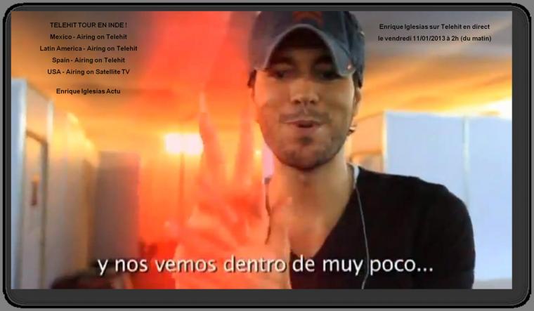Enrique Iglesias sur Telehit