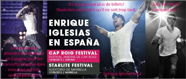 Nouveaux concerts en Espagne