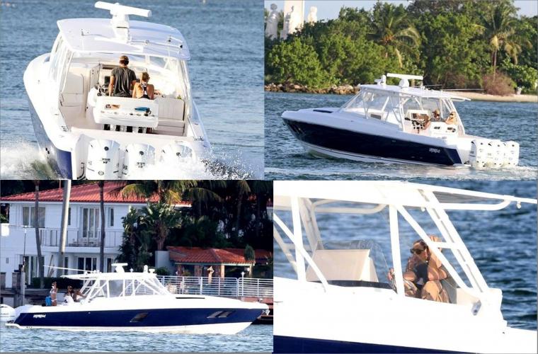 Enrique & Anna en bateau, Juin 2013
