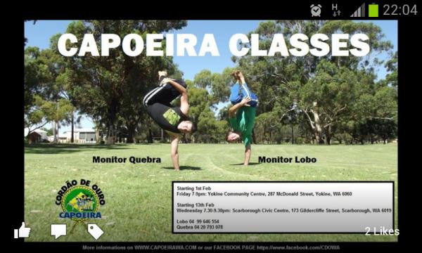 Capoeira Cordao de Ouro WA