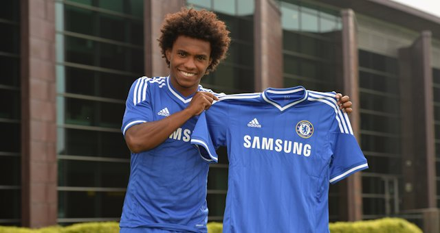 Chelsea (ANG) : Willian (Anzhi, RUS) a signé