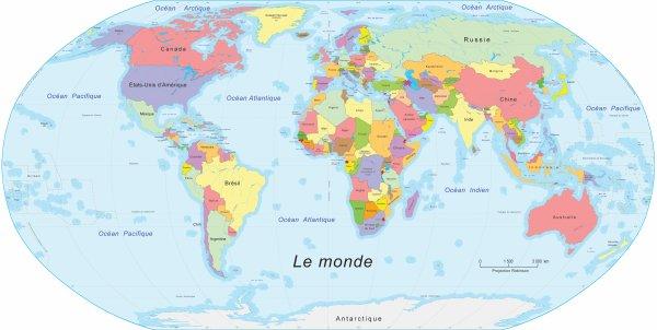 Carte géographique des petits Anges