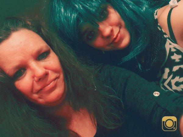 avec ma maman <3