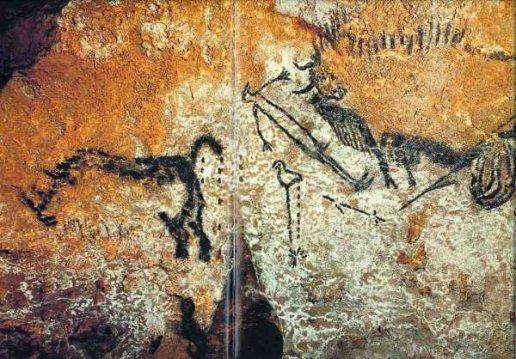 La scène du puits, de la grotte de Lascaux, comme je vous l'avait promis