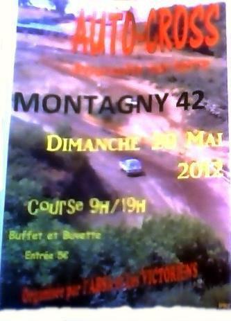 AUTOCROSS à MONTAGNY (42) Dimanche 20 MAI 2012