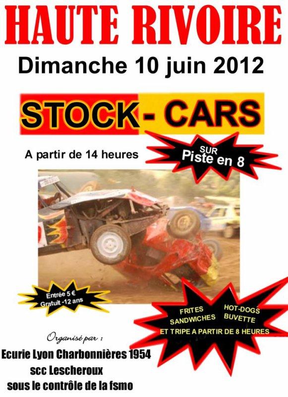 STOCK CARS (BANGERS) à HAUTE RIVOIRE RHONE Dimanche 10 JUIN 2012