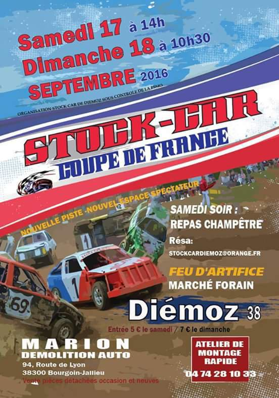 COUPE DE FRANCE DE STOCK CARS FSMO 2016