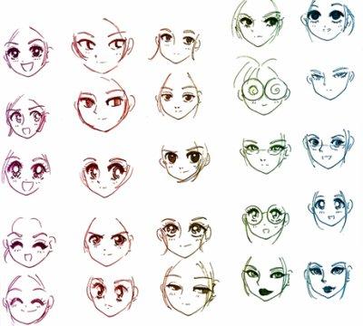 visage de Manga