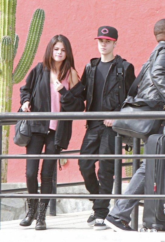 Selena à Mexico avec Justin