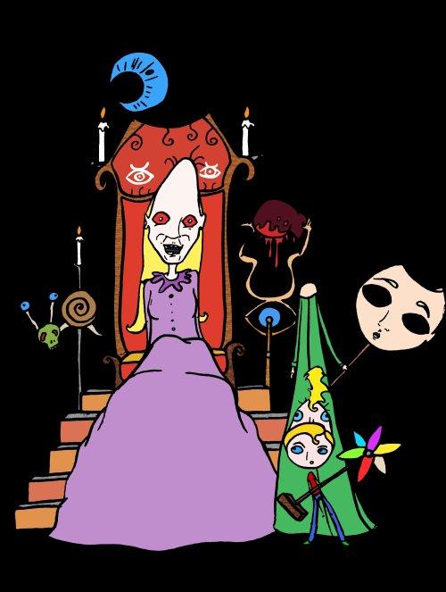 Fin du cinquième acte: le leurre ou le royaume des masques.