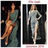 """# # Rihanna porte  une robe """" Elie Saab """" Collection  Automne 2010 Remarque *   Lors de la cérémonie, Rihanna  a reçue l'award de « L'artiste féminine de l'année » ! La chanteuse à évidemment remerciait ses fans, Roc Nation, Def Jam ainsi que les « Americian Music Awards » pour leurs soutiens. Pour sa seconde tenue durant les AMA, la belle avait jeté son dévolu sur une autre création d'Elie Saab toujours de la collection Automne 2010. Une robe drapée sur le devant,   fendue dans toute la longueur de la jupe, avec une manche d'un côté et une bretelle de l'autre. Une pièce très asymétrique alliant l'élégance à l'originalité !"""