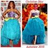 """# # Rihanna porte  une robe  """" Christian Dior  """"  Automne/Hiver Remarque * La pop-star Rihanna s'est rendue à la cérémonie des « BRIT Awards » dans la colossale O2 Arena à Londres, Cette cérémonie récompense les meilleurs chanteurs anglais et internationaux. La jeune Barbadienne est apparue  sur le tapis rouge de la cérémonie dans une sublime robe Christian Dior de la collection Haute Couture imaginée par John Galliano pour l'automne-hiver 2010, difficile d'imaginer une fashionista assez audacieuse pour la porter. C'est pourtant ce qu'a fait Rihanna, ce soir-là, avec une robe bleu turquoise, violet et vert fluo, toute en mousseline et en froufrous. Une Rihanna toujours aussi audacieuse et décidément très en forme !"""