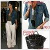"""# # Rihanna porte  une veste   """" Current/E.""""  qui coûte    395 $ !, un sac """" Givenchy  """"  qui coûte    1,649 ¤ ! Remarque *  Rihanna a été aperçue à l'aéroport """"LAX"""" de Los Angeles dans un adorable look ! La belle arborait : une petite veste en jean, un top vert kaki dessous, un joli pantalon en lin beige, une paire de sandales Balmain, des lunettes de soleil  Dior et un sac à main  noir Givenchy."""