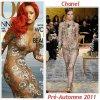 """# # Rihanna porte une robe    """" Chanel  """"  Pré-Automne 2011, une robe """" Lanvin  """"  Printemps/été 2010 Remarque * Elle en rêvait depuis des années, aujourd'hui le rêve de la  belle Barbadienne est devenu réalité : Rihanna fait la couverture du  Vogue US, pour son édition du mois d'avril 2011 réalisé  par la prestigieuse Annie Leibovitz. Rihanna apparaît vêtue d'une robe moulante  transparente Chanel, posée devant le décor d'une plage paradisiaque, une chevelure rouge  glamour en accord parfait avec son rouge à lèvres, telle une belle sirène. Sur d'autres clichés, Toujours aussi divine, La chanteuse est vêtue d'une jolie robe Lanvin collection printemps 2010. A seulement 23 ans, Rihanna est la plus jeune femme afro-américaine à poser en couverture du Vogue US."""