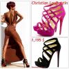 """# # Rihanna porte des sandales    """" Christian Louboutin  """"  qui coûte    1,195 $ ! Remarque * Rihanna n'en a pas fini de vous rendre encore plus dingues d'elle que vous ne l'êtes déjà ! Voici encore un nouveau cliché qui provient de l'édition spécial iPad Vogue. Plus sexy que jamais, la chanteuse prend la pose sous l'objectif d'Annie Leibovitz, dans une ravissante robe  Lanvin avec la fermeture du dos ouverte  dévoilant sa jolie pluie d'étoiles et perché sur des grandes sandales Christian Louboutin  VOIR LES PHOTOS"""
